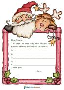 Santa Writing Paper Template