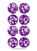 Purple Homemade Gift Tags Templates