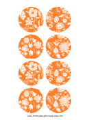 Orange Homemade Gift Tags Templates