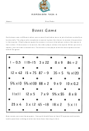Homework Task 4 Boxes Game Worksheet