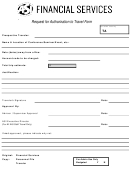 Request For Authorization To Travel Form - Asi Financial Services