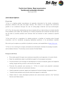 Technical Sales Representative Job Description Template