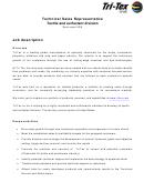 Technical Sales Representative Job Description Template