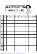 Blank Multiplication Chart 1-12 With Answer Key
