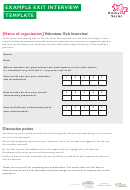 Example Exit Interview Template - Kitchen Social
