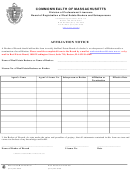 Affiliation Notice Form - Board Of Registration Of Real Estate Brokers And Salespersons Commonwealth Of Massachusetts