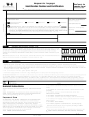 Form W-9 - Request For Taxpayer Identification Number And Certification