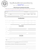 Firm Change Of Information Form - Texas Board Of Professional Land Surveying