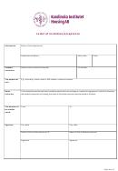 Letter Of Invitation/acceptance Template - Karolinska Institutet Housing Ab