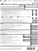 Form 41s - Idaho S Corporation Income Tax Return - 2012