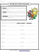Producers And Consumers Biology Worksheet With Answer Key