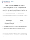 Eagle Scout Reference Letter Request Template - Boy Scouts Of America