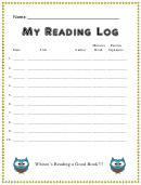 My Reading Log Template