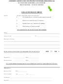 Non-attendance Sheet - Leitrim Associaionof People With Disabilities Ltd