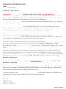 Sample Letter Of Medical Necessity Template