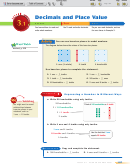 Lesson 3.1 Decimals And Place Value Worksheet