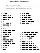 International Morse Code Chart