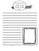 Letter Template To Santa At The North Pole