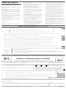 Form W-4 - Employee''s Withholding Allowance Certificate - 2017