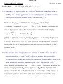Chem 338 Homework Set 5 Solutions Workseet