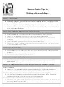 Success Center Tips For Writing A Research Paper - Southwestern Illinois College