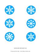 Snowflake Tag Template
