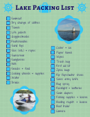 Packing List For Weekend Trip At The Lake
