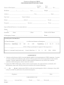 Program Registration Form - Cameron Regional Ymca