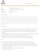 Java Application Developer Job Description Template - Equality Health