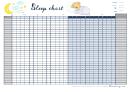 Monthly Sleep Chart