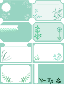 Gift Label Template