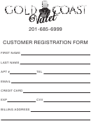Customer Registration Form - Gold Coast