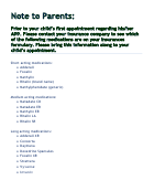 Vanderbilt Adhd Diagnostic Parent Rating Scale Printable Pdf Download