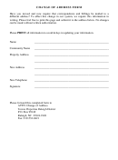 Change Of Address Form - Towne Properties Raleigh District