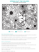 Spring Out The Colors Coloring Sheet