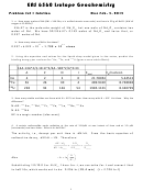 Eas 6560 Isotope Geochemistry Worksheet With Answers - 2015