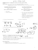 Section 2.3, 2.4 Graphing Lines And Writing Equations Of Lines Worksheet With Answers