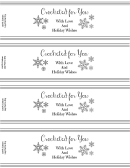 Crocheted For You Label Template