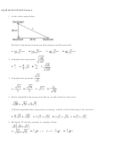 Algebra Worksheet With Answer Key - Alg Mini Ma912a62 Form A