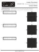Math 10c Linear Functions Lesson Five - Parallel And Perpendicular Lines Worksheet