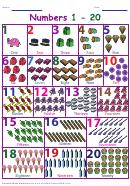 Number Chart 1-20 Worksheet