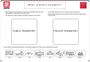 Public Transport Worksheet