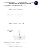 Slope-intercept And Point-slope Forms Worksheet With Answer Key - Potomac Falls High School
