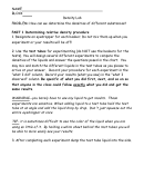 Physics Density Lab Report Template