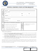 Zoning Certification Letter Request Template - City Of Statesboro Planning Department