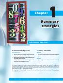 Numeracy Strategies Worksheets