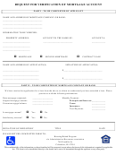 Request Form Template For Verification Of Mortgage Account