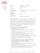 Civil Engineer Job Description Template - 2016