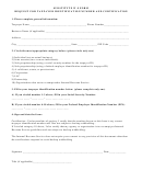 Substitute Form W-9 - Request For Taxpayer Identification Number And Certification