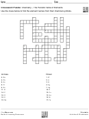 The Periodic Table Of Elements Crossword Puzzle Template